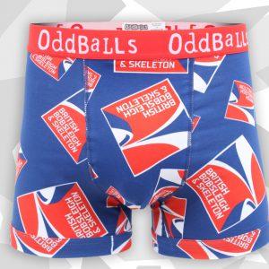 Oddballs bobsleigh skeleton MENS BOXER front