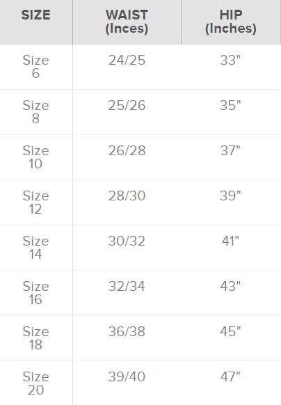 oddballs womens size chart